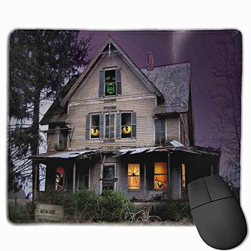 Beängstigend Halloween Haus Qualität Komfortable Game Base Mauspad mit genähten Kanten Größe 11,81 * 9,84 (Beängstigend Häuser Für Halloween)