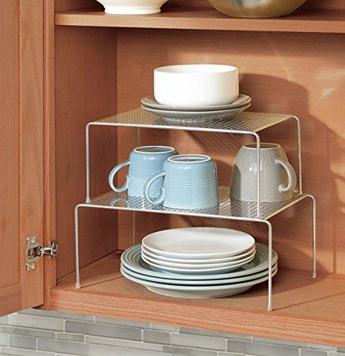 Mdesign porta piatti e porta stoviglie allungabile - Scaffale per cucina ...