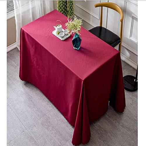 BH-JJSMGSRechteckigeTischabdeckungGeeignet für Küchentischplatte Einfarbig BlauWeinrotDunkelgrün Weiß Polyestergewebe Tischdecke Tischdecke160 * 240 cm -