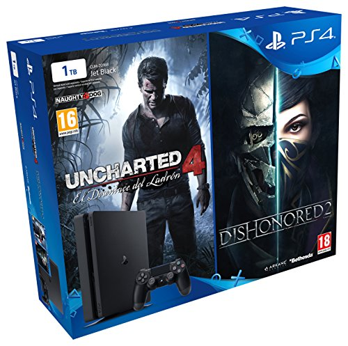PlayStation 4 Slim (PS4) 1TB - Consola + Uncharted 4 + Dishonored 2