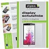 dipos I 2X Schutzfolie matt passend für LG G3 S Folie Bildschirmschutzfolie