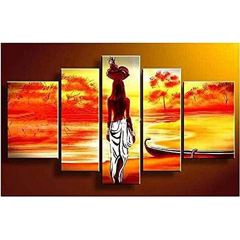 UZI-Pittura a olio dipinto a mano puro, ombre di luce, senza telaio combinato pittura, moda semplice