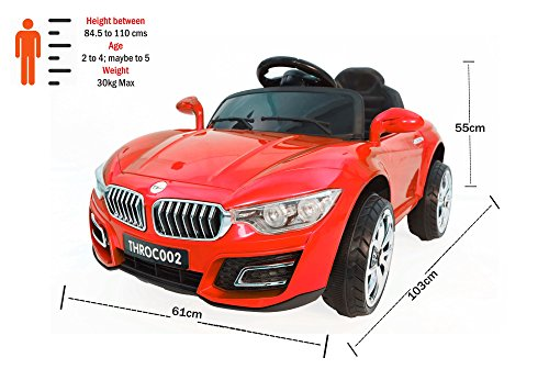 Toyhouse Fanzy Luxurious Rechargeable Battery Painted Ride-on car, Red