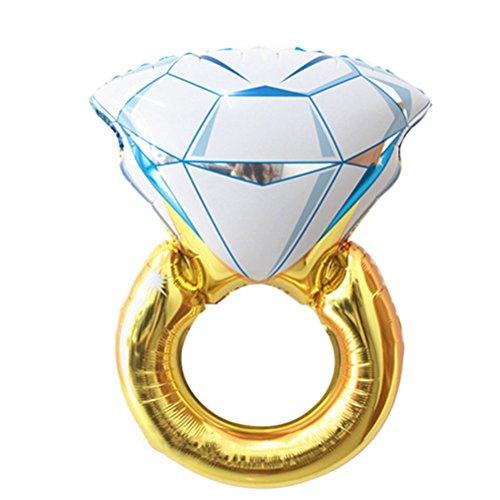 Verlobungsring Ballon Hochzeit Dekorationen Party Zubehör–Größe L (Verlobungsring Ballon)