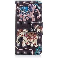 Kucosy Samsung Galaxy S83D gemaltes patrón Cuero PU Folio Cartera Funda Patrón Pintura Funda Móvil, antiarañazos de Funda Back Cover para Samsung Galaxy S8