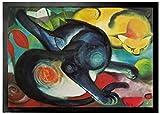 1art1 94268 Franz Marc - Zwei Katzen, Blau und Gelb, 1912 Fußmatte Türmatte 70 x 50 cm