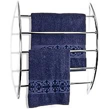 bremermann® Porte-serviette chromé pour fixation murale assorti de 5 barres en métal