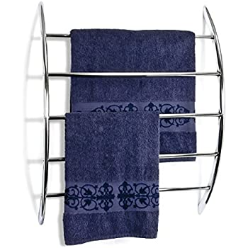 bremermann® Wall-Mounted Towel Rail with 5 Rails, chrome-plated metal
