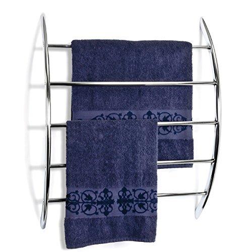 ® Handtuchhalter zur Wandmontage mit 5 Stangen aus Metall, verchromt