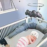Funihut Bettumrandung Baby Nestchen Kinderbett Stoßstange Weben Bettumrandung Kantenschutz Kopfschutz