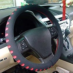 Yinew Auto Lenkradabdeckung Setzt Universal Lenkradabdeckung Auto Lenkradbezug Lenkrad Abdeckung Anti Rutsch Atmungsaktiv Lenkradabdeckung