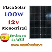 Placa Solar 100w 12v Monocristal
