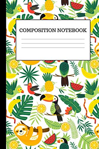 osition Notebook: Cute Tropical Inspired Sloth Notebook For Girls, Great For Class Notes (College-Ruled, Back To School Gifts) ()