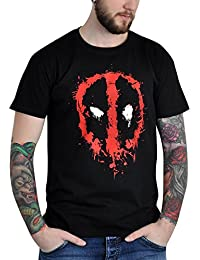 T-shirt Deadpool Splatter coton noir
