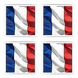 Beliebte italienische Set von 4Untersetzer Flagge Frankreich, Bild