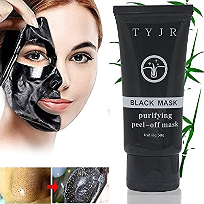 TYJR Beauty Activated Natural Charcoal Blackhead Cleansing Mask Cleaner Face Mask/Deep Clean Blackhead/Farewell Strawberry Nose/Blackhead Killer Facial Masks Black 50ml by ShenZhen shi heng xin rui hui fa zhan Co. Ltd