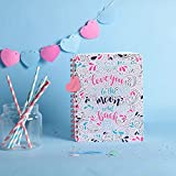 Doodle Head Over Heels Premium Hard Wiro Bound Non Dated Diary/Notebook (6.5 X 8.5 Inches, 80 GSM, 192 Ruled Pages) Diary for Girls, Birthday Gift for Girls, Gift for Girlfriend