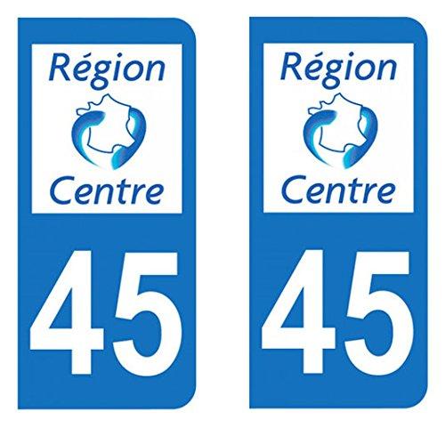 Paire Sticker immatriculation 45 – Loiret Achat