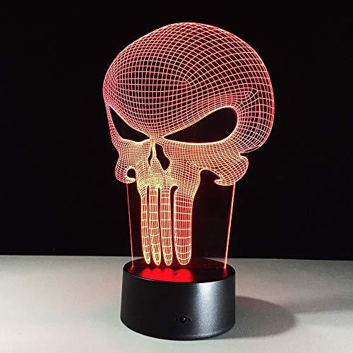 3D lampe acryl skelett stereo vision lampe 7 farbe Chang schreibtischlampe fernschalter schlafzimmer für hauptdekoration