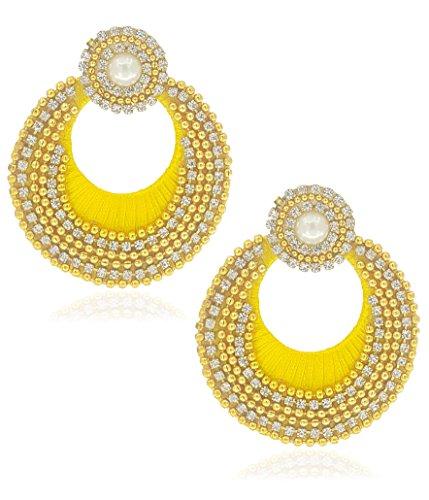 YouBella Jewellery Traditional Silk Thread Fancy Party Wear Jhumka / Jhumki Earrings for Girls and Women