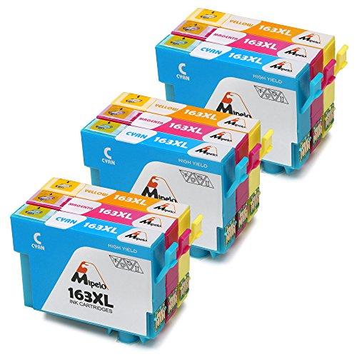 Mipelo Compatible Epson 16XL 16 Cartucce d'inchiostro, 9 Pack per Stampante Epson Workforce WF-2510 WF-2630 WF-2750 WF-2760 WF-2010 WF-2530 WF-2660 WF-2520 WF-2650 WF-2540 (3 Ciano,3 Magenta,3 Giallo)