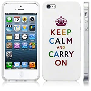 iPhone 5 Cool TPU Multicoloured Keep Calm and Carry On Gel Skin Case Cover Protector from Keep Talking Shop iPhone 5 Accessories