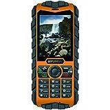 Hyundai Strong HP01043 Téléphone Mobile Compact Jaune et Noir