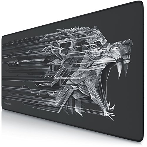 TITANWOLF Alfombrilla para ratón Speed Gaming XXL 900 x 400 mm | XXL Mousepad/Mouse Pad | Base para Mesa/Grandes Dimensiones | Mejora la precisión y l