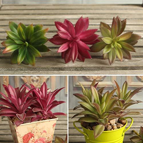 Plentree 12b9 rares Plantes artificielles Feuille d'herbe Désert Artificiel Paysage Faux Flo Dark/Green