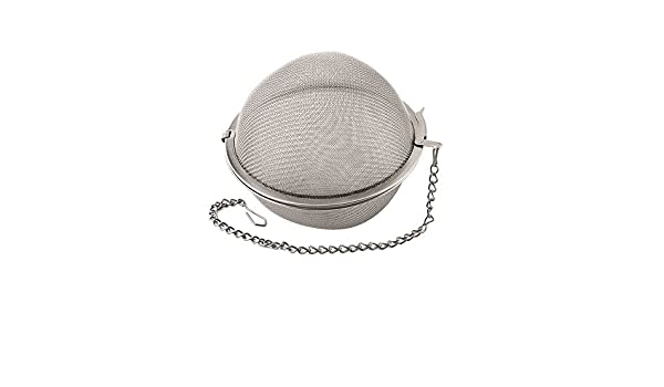Stainless Steel Silver Weis Tea-//Spice Bowl 15 x 15 x 15 cm
