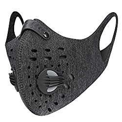 KUTOOK sports mask respirator dust mask dust cover pollution face mask protection against smog dust exhaust and PM 2.5 gray
