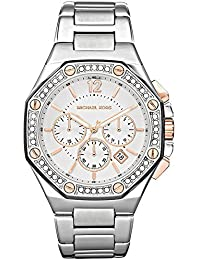 Michael Kors MK5504 - Reloj con correa de acero para mujer, color plateado / gris