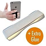 CASE-HERO Premium Smartphone Fingerhalterung | inkl. ERSATZKLEBER | EINHAND Modus für Handy, Tablet, eReader | Hülle & Case | Auto Outdoor Finger Halterung | iPhone 6/7/plus, iPad, Samsung Galaxy...