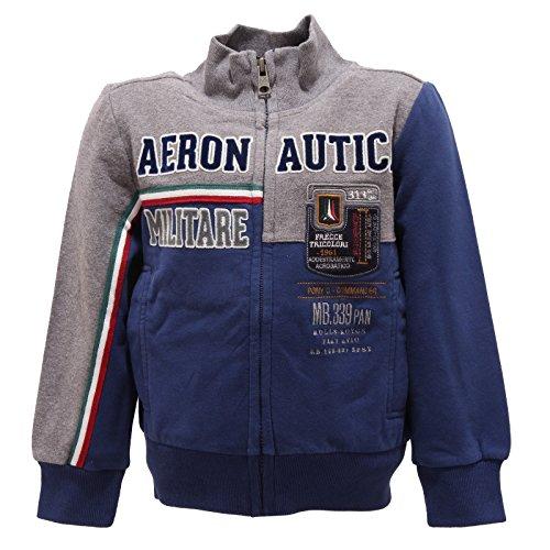 0487r felpa bimbo aeronautica militare felpe maglie kids sweatshirts [4 years]
