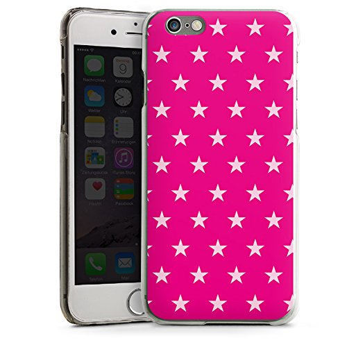 Apple iPhone 5s Housse Étui Protection Coque Étoile Rose vif Motif CasDur transparent