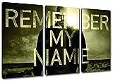 Braking Bad Motiv, 3-teilig auf Leinwand (Gesamtformat: 120x80 cm), Remember my Name Hochwertiger Kunstdruck als Wandbild. Billiger als ein Ölbild! ACHTUNG KEIN Poster oder Plakat!