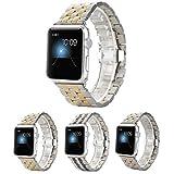 Surwin 38 mm Apple Watch Band , Uhrenarmband Armband aus Edelstahl Watch Strap Wrist Band Zubehör für alle Versionen Apple Smartwatch iWatch - Golden Silber