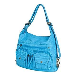 Ampere Creations - Rucksack, Schultertasche Damen, (Serenity Blue), Einheitsgröße