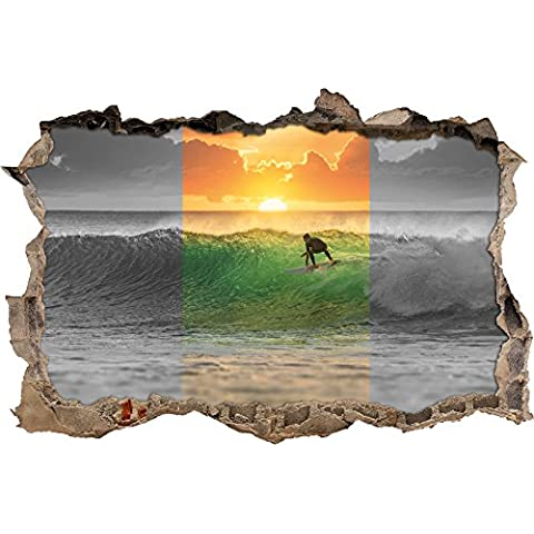 Bold Surfer Surfer nero / bianco svolta