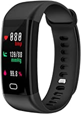 RCE - F07 [Color OLED Screen] Smart Band with Blood Pressure and Heart Rate Monitor, Multiple Sports Mode Fitness Bracelet for Android iOS