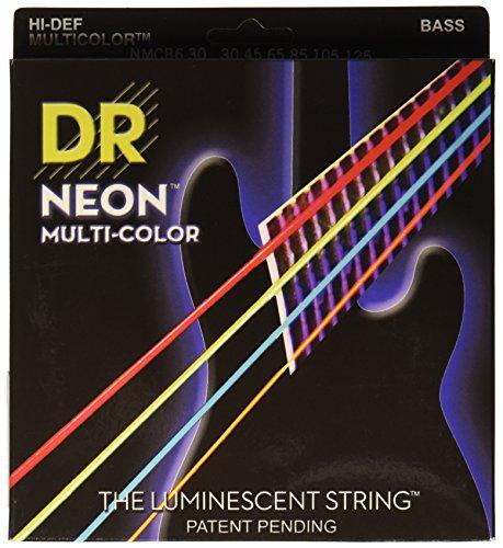 DR B NEON MCB6-30 HiDef Bass Saite (6-String) mehrfarbig