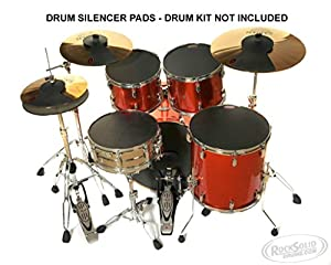 Drum Kit Silencer Practice Pads - ROCK SET - Drum Kit Mutes