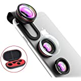 [Latest Version]VicTsing 3 en 1 Kit Objectif Universal Fish-Eye Clip-On Suprême Fisheye + 12 x Macro + 24 x Super Macro pour iPhone 7 6S iPhone 6S Plus iPhone 6Plus 6 5 5S 4 4S, iPad Air, iPad Mini, Blackberry Bold Touch, Sony Xperia, Motorola Droid, etc