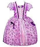 FStory&Winyee Mädchen Kostüm Prinzessin Kleid Sofia Kostüm Lila Kinder Märchen Cosplay Kleid Karneval Party Verkleidung Rollenspiel Weihnachten Halloween Fest