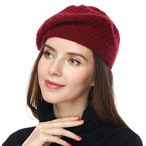 65b78775957 JULY SHEEP Women s Lady Knitted Beret hat Merino wool Braided hat French  Beret for Winter Autumn Solid color - Buy Online in Bahrain.