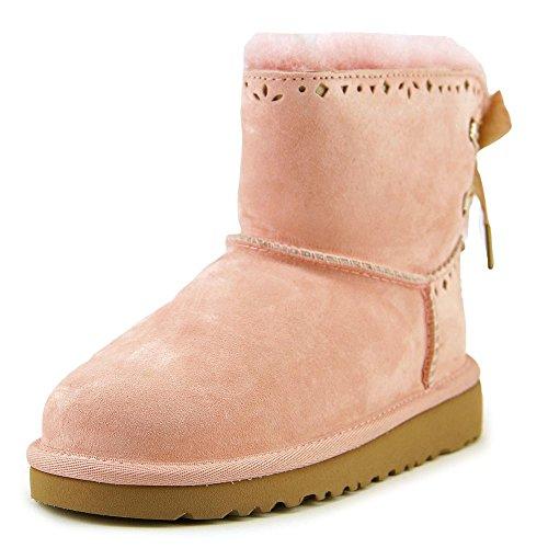 UGG Girls' Dixi Flora Perf Boot Big Kids,Blush,US 6 M