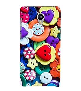 printtech Colorful Button Design Back Case Cover for meizu m2