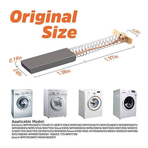 Neff 5x12,5x36 mm SIWAMAT Bosch 2 pezzi spazzole per lavatrici Siemens