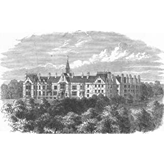 CHESHIRE: St Aidan's Theological College, Birkenhead, antique print, 1863