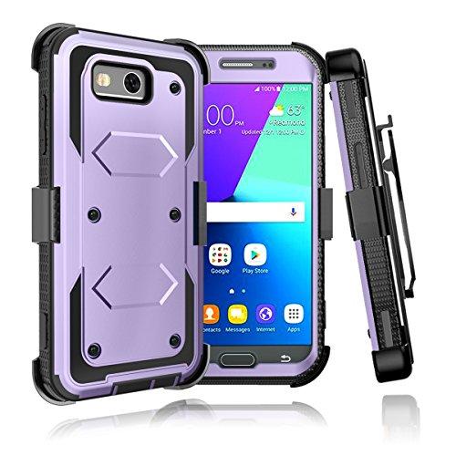 Samsung Galaxy J32017[Bildschirm Integrierter] Holster Gürtelclip Defender Schutzhülle mit ausklappbarem Ständer Samsung Galaxy 3 Sprint Freigeschaltet